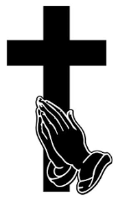 cross with praying decal sticker
