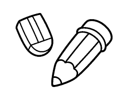 pencil coloring pages pencil and rubber coloring page coloringcrew com