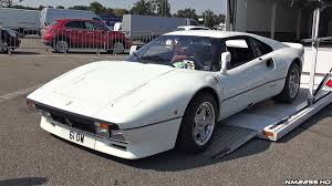 white porsche truck white ferrari 288 gto start up rev sound u0026 loading into a truck