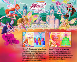 winx club magical fairy party character mini games details