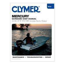 amazon com mercury outboard shop manual 3 5 40 hp 1972 1989
