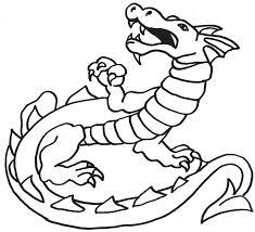 fire breathing dragon clipart black white clipartxtras