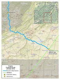 Virginia Mountains Map by Maps Mountain Valley Pipeline Project