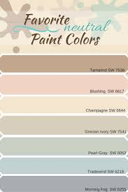 various selection of neutral paint colors from sherwin williams