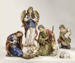 beautiful nativity set figurines including baby jesus wise men