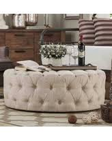spectacular deal on weston home round tufted cocktail ottoman