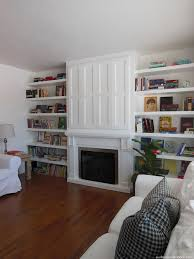 Floating Shelves For Tv by Remodelaholic Built In Fireplace Surround And Shelving With