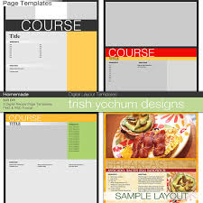 cookbook template like this item recipe page templates cookbook