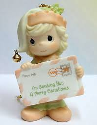 precious moments ornaments collection on ebay