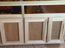 Make Kitchen Cabinet Doors by Diy Cabinet Door Used Burlap And Chicken Wire For A More Rustic