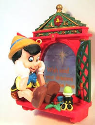 wishing on a pinocchio with jiminy cricket at window