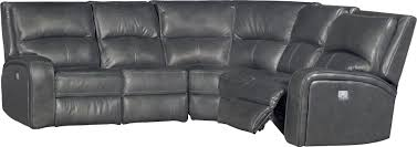 gray leather match 6 piece power reclining sectional megan rc