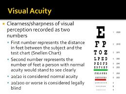 Legally Blind Test Special Senses Ppt Download