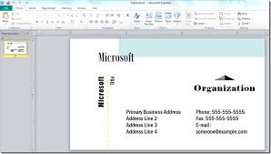 Business Card Printing Software How To Make A Business Card With Microsoft Publisher Online
