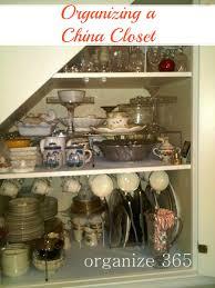 under the stairs china closet organize 365