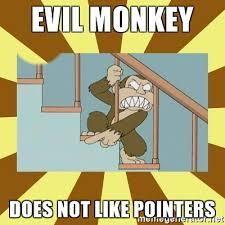 Monkey Meme Generator - evil monkey does not like pointers evil monkey meme generator