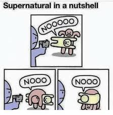 Nooo Meme - supernatural in a nutshell nooo nooo meme on me me