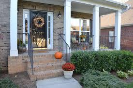 exterior design brick wall decor and fall outdoor decorating