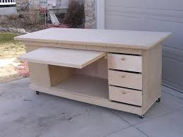 rolling work table plans work bench for craft room furniture projects pinterest bench