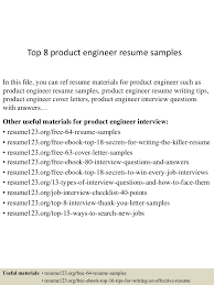 resume examples engineer top8productengineerresumesamples 150426010541 conversion gate01 thumbnail 4 jpg cb 1430028382