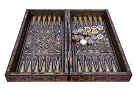 syrian handmade backgammon u0026 chess board chairish