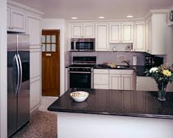 Black Backsplash Kitchen Natural Stone Tile Backsplash Kitchens With Black Appliances