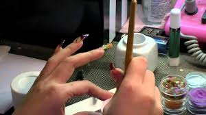 mosaic tips acrylic nails tutorial youtube
