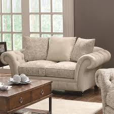 furniture gray tufted loveseat on cozy kahrs flooring with lowes