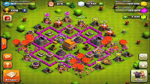 layout coc town hall level 7 base design ironfist master of clash clash of clans
