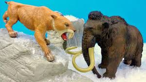 2 prehistoric animals smilodon mammoth educational kids video