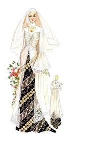wedding dress batik kebaya pengantin ek118 grosirkebaya net kebaya model ekor