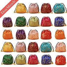 purse gift bags elesa miracle 24pcs silk brocade jewelry pouch bag drawstring