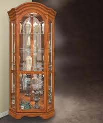 Discount Corner Curio Cabinet Barrington Corner Curio Cabinet In Oak By Philip Reinisch Home