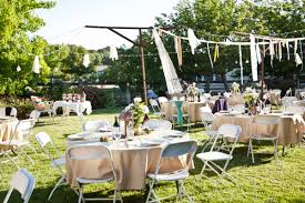 diy outdoor wedding decorations garden reception ideas amys office