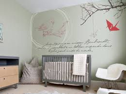 chambre bébé peinture murale stickers muraux chambre d enfant contemporain chambre de bébé