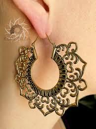 gipsy earrings brass earrings brass hoops earrings tribal earrings