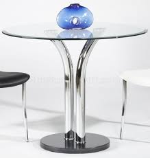 Glass Tables And Chairs 311 Glass Top Dining Table U0026 2 Chairs 3pc Set By Chintaly