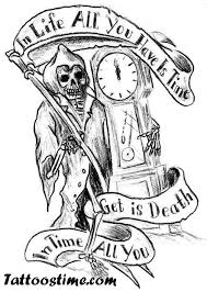 rebel grim reaper tattoo design photos pictures and sketches