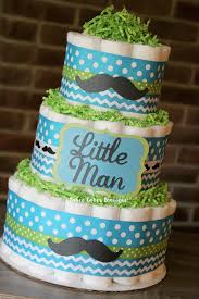 little man mustache baby shower 3 tier little man mustache diaper cake boy baby shower