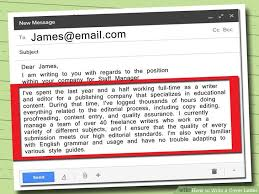 sending your application e mail resumecv cover letter in how to