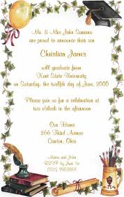 invitation of graduation party chatterzoom