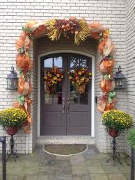 Outdoor Thanksgiving Decorations by Thanksgiving Fall Outdoor Deco Mesh Garland My Decor For My