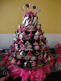 funky pink and zebra print birthday cake zebra print birthday