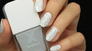 easy stone marble nail art youtube