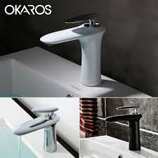Aliexpresscom  Buy OKAROS Modern Bathroom Basin Faucet White - Bathroom basin faucets