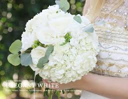 white hydrangeas white hydrangea bridal bouquet package white diy