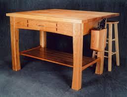 craftsman style kitchen island in cherry u003e montana fine furniture