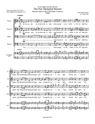 the spangled banner for ttbb ssaa or ssaattbb choir by