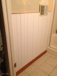 300 bathroom remodel installing shiplap or paneling over tile