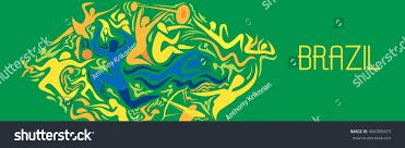 Blank Brazil Flag Abstract Brazil Flag Sport Event Vector Stock Vector 406395475
